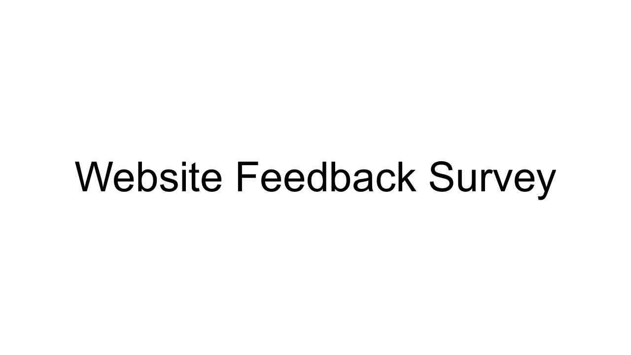 website feedback survey