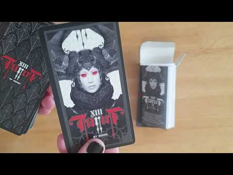 XIII Tarot By Nekro - Fournier Deck - Unboxing And Flick Thru #tarotdecks #deckreview #unboxing