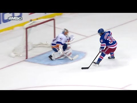 Mats Zuccarello shootout goal vs NYI | 10/19/2017 [HD]