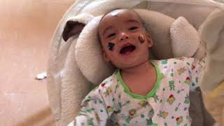 Funny Face Baby Boy Over 8months- Asian Kid Life - Cambodian Kid Life