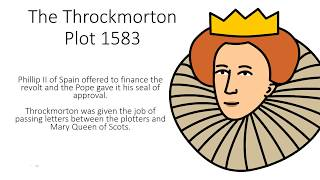Early Elizabethan England 1558 - 1588 - The Throckmorton Plot 1583