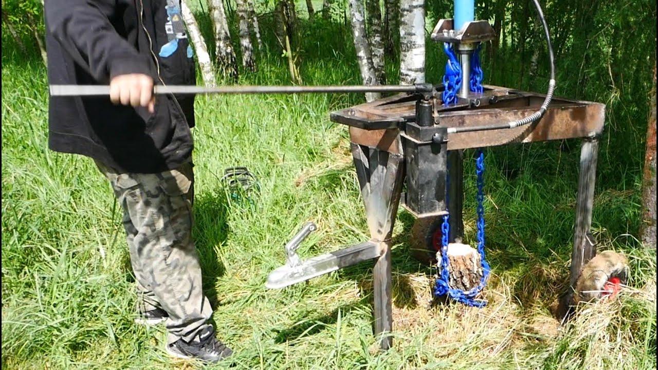 Tree Stump Remover (using hydraulics)