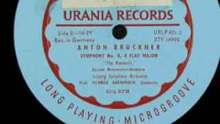 Herman Abendroth conducts  Bruckner symphony nr 4 romantic Romantische leipzig symphony orchestra Leipziger Symphonie Orchester urania lp