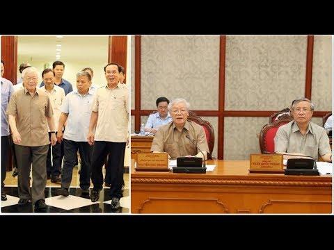 TBT Nguyễn Phú Trọng chủ trì họp bộ chính trị cấp cao ngày 21/6/2019 trước mọi đồn đoán về sức khỏe