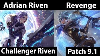 [ Adrian Riven ] Riven vs Riven [ Revenge ] Top - Twitch Rivals