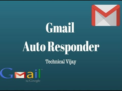 how to create an autoresponder in gmail