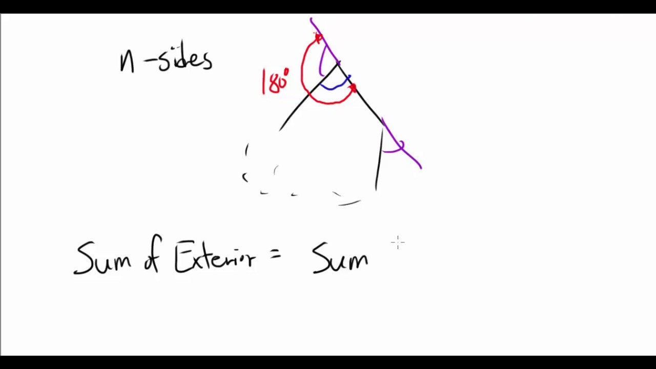 Prove sum of exterior angles of any polygon is 360 youtube - Total exterior angles of a polygon ...