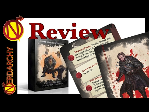 Luck Deck, Critical Hit Decks, and Critical Fail Deck for 5E D&D from Nord  Games Review