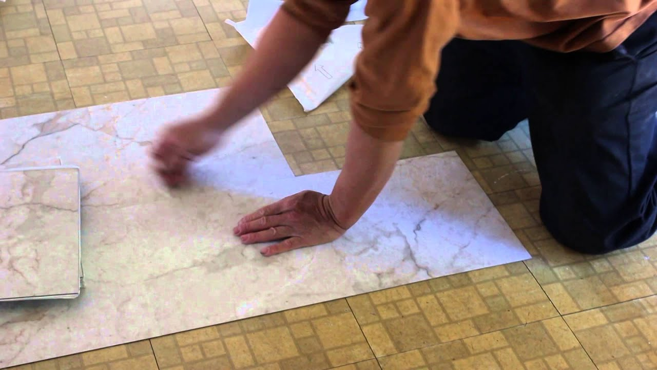 how to install sticky tiles over existing tiles