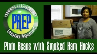 How To Cook Pinto Beans With Smoked Ham Hocks | Food Storage Recipe