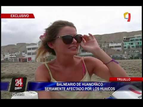 Trujillo: balneario de Huanchaco seriamente afectado por huaicos