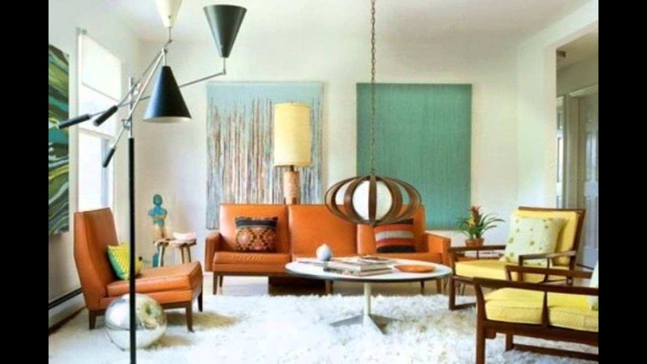 Mid Century Modern Living Room mid century modern living room chairs - youtube