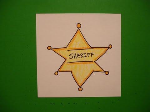 Lets Draw A Sheriffs Badge