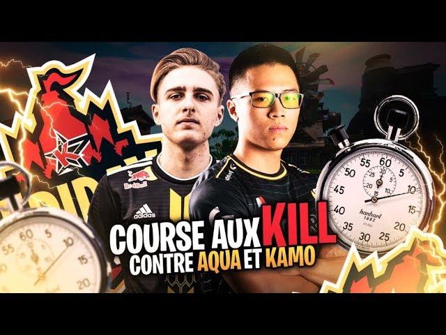 INTENSE COURSE AUX KILLS CONTRE AQUA ET KAMO ► Friday Fortnite By Keemstar