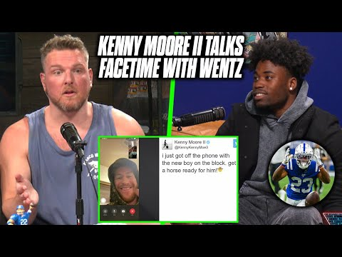 Pat McAfee Asks Kenny Moore About His FaceTime With Carson Wentz