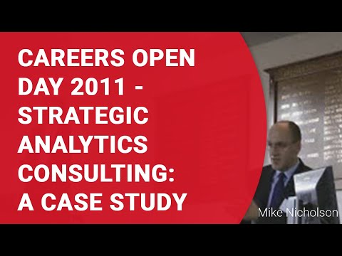 Strategic Analytics Consulting: A case study
