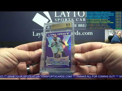 2018 Immaculate Baseball & 2018 Leaf Valiant Football 4 Box Break For Andrew K.