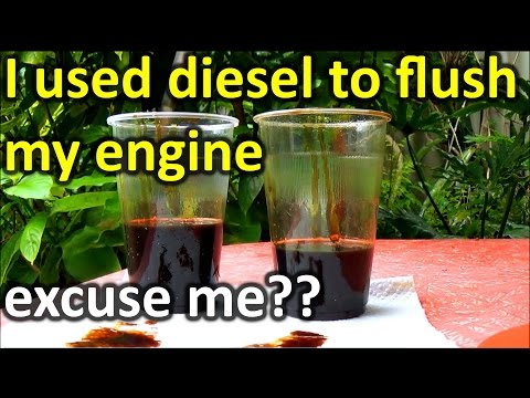 How to FLUSH engine OIL with Diesel (WARNING!!)
