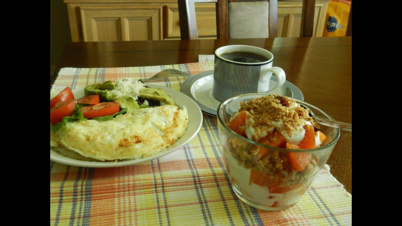 Desayuno Completo, Bajo en Calorías!! - YouTube