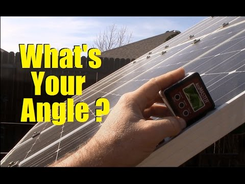 How to find & set solar panel tilt angles for your location
