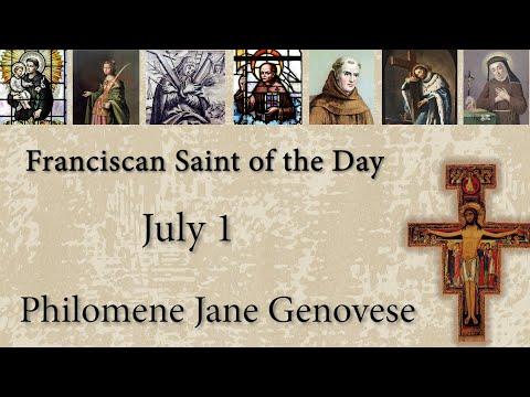 July 1 - Philomene Jane Genovese - Franciscan Saint of the Day