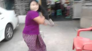 Parking fight and argument Myanmar