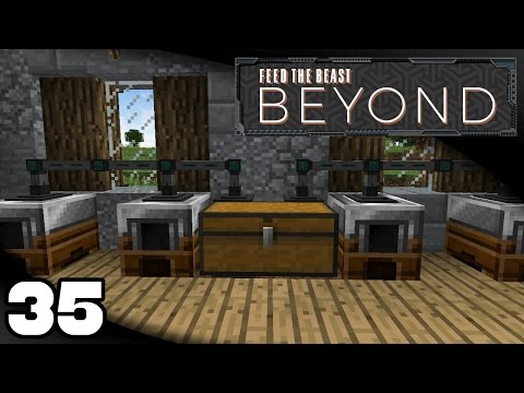 FTB Beyond - Ep. 35: Automating the Pam's Harvestcraft Press