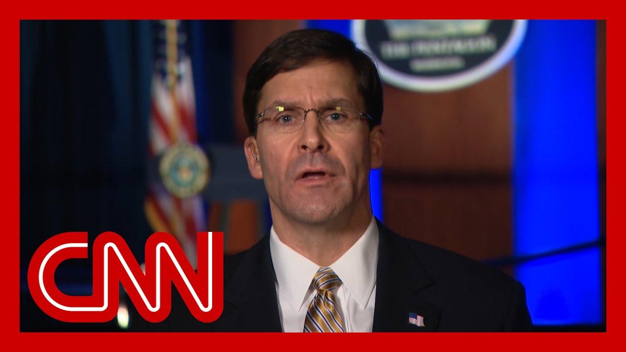 Mark Esper: Defense Secretary is prepared for possibility Trump ...