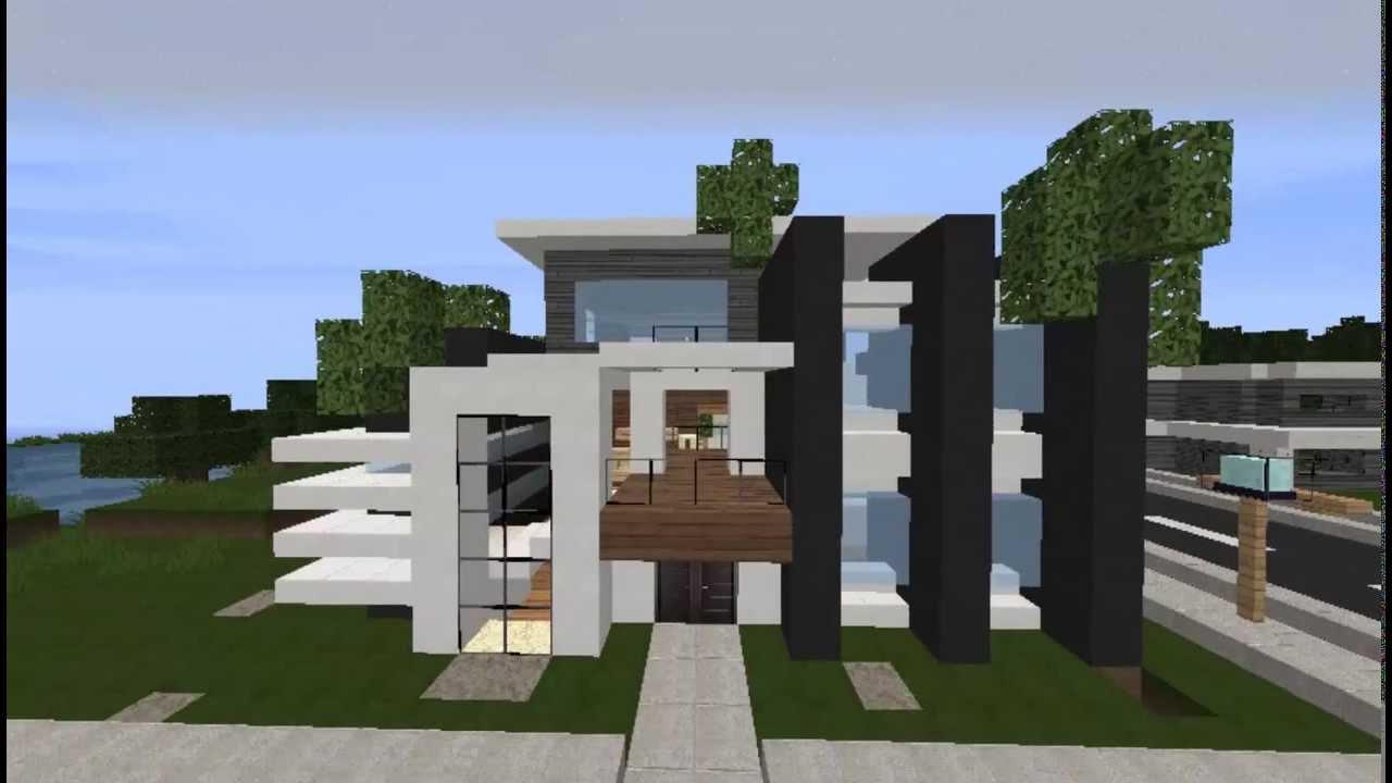 Minecraft modern town mmt 3 modern house 3 youtube for Modern house designs mc