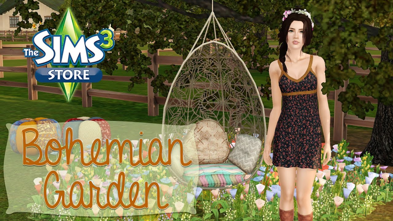 The Sims 9 Store: Bohemian Garden Set Review!