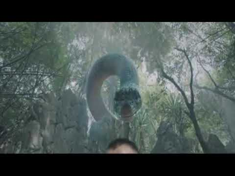 Giant snake Chinese movie clip