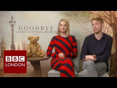 Margo Robbie & Domhnal Gleeson 'Goodbye Christpher Robin' interview – BBC London News