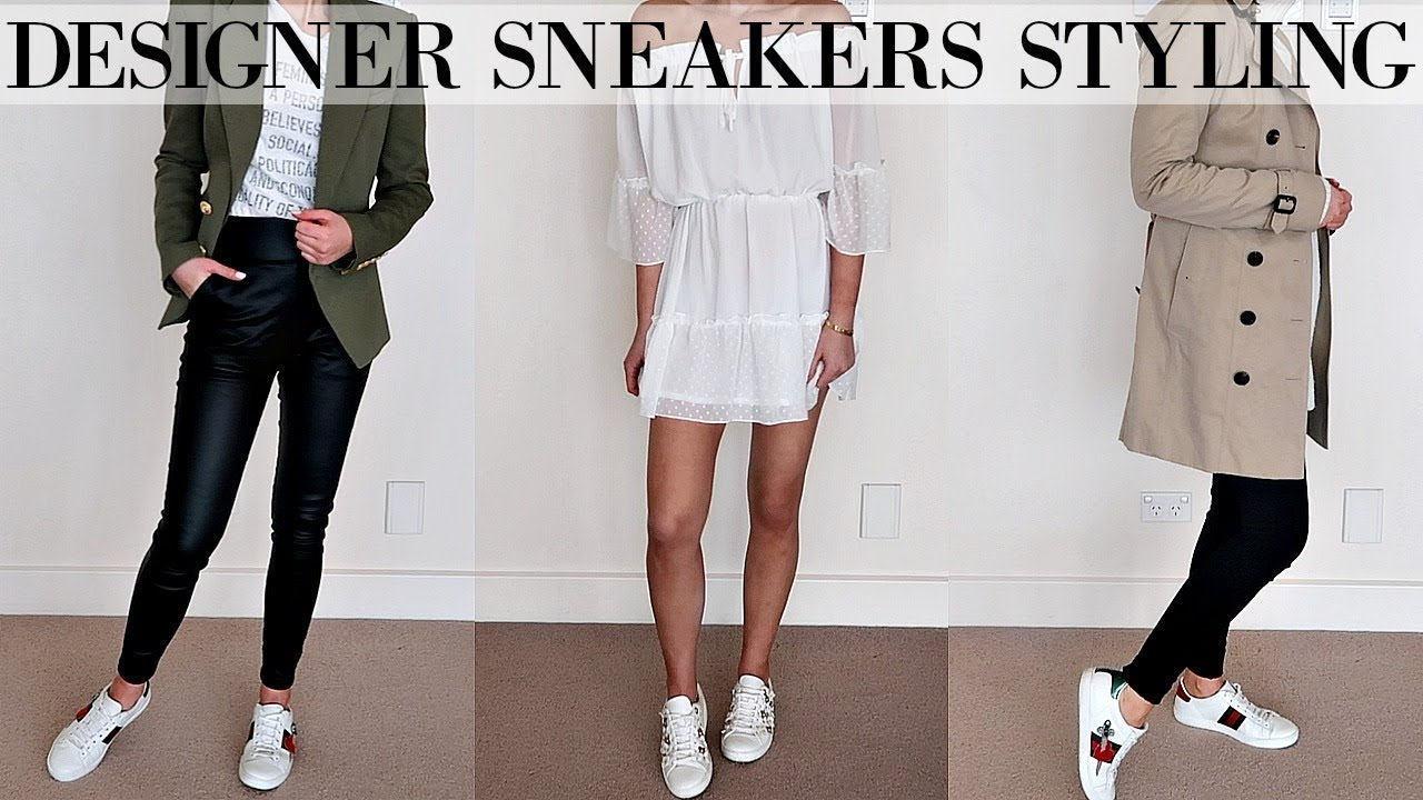 HOW TO STYLE DESIGNER SNEAKERS || 10
