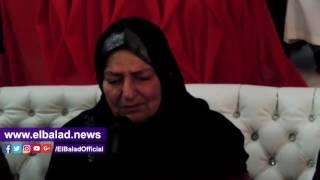 والدة الشهيد أحمد زيدان : 'أشكر ربنا إنه أكرمني باستشهاد زوجي ونجلي' .. صور وفيديو