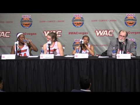2016 WAC Basketball Tournament Postgame Presser - W's Game 5 - UTRGV