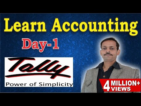 Tally Erp 9 Complete Basic Accounting Class with Example (HINDI|हिंदी)-Day 1|Journal Entry in Tally