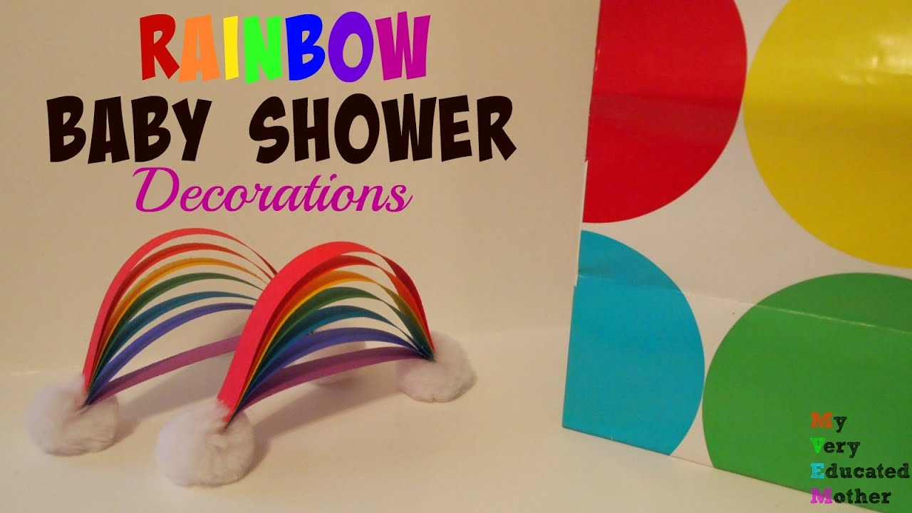 Superior Rainbow Baby Shower Decorations   YouTube