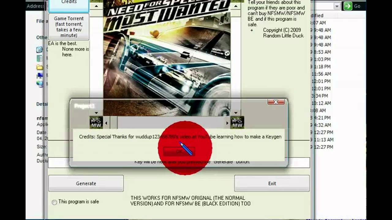 nfs most wanted serial key for pc