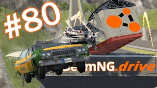 BeamNG.drive (#80) - ZIMOWE SKOKI NA SKOCZNI SAMOCHODAMI | KTÓRY SKOCZY DALEJ ❓❔