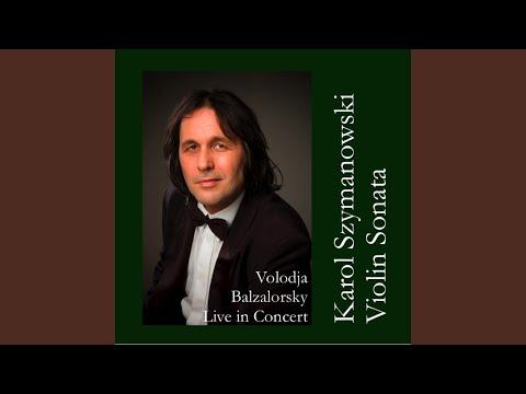 Sonata for Violin and Piano in D minor Op. 9: Andantino tranquillo e dolce (Live)