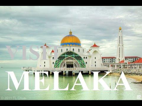 The Straits Mosque Melaka Malaysia HD