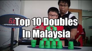 Sport Stacking: Top 10 Doubles In Malaysia (July 2014 Edition)