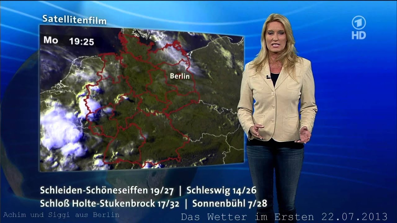 Claudia Kleinert 22072013 Das Wetter Im Ersten 34 Grad Celsius