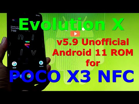 Evolution X v5.9 Unofficial for Poco X3 NFC (Surya) Android 11