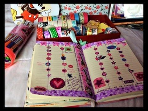 Agenda mea | Cum planific si organizez, colectia de stickere, ustensile, washi tape