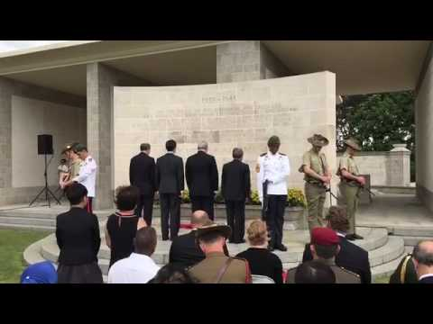 Laying of wreaths at Kranji War cemetery