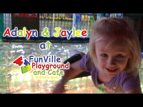 Addy & Jaylee Having Tons of Fun at Funville Playground and Cafe | Dragoon Fun Time