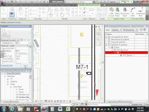 Revit MEP Industrial Project Power layout & Cicuiting 02 11 13