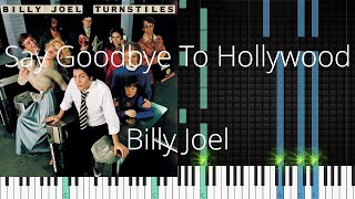 🎹 Say Goodbye To Hollywood, Billy Joel, Synthesia Piano Tutorial