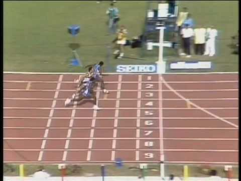 Closest Ever Finish!!Ed Moses-World Championships,Rome,1987. 400m.H.